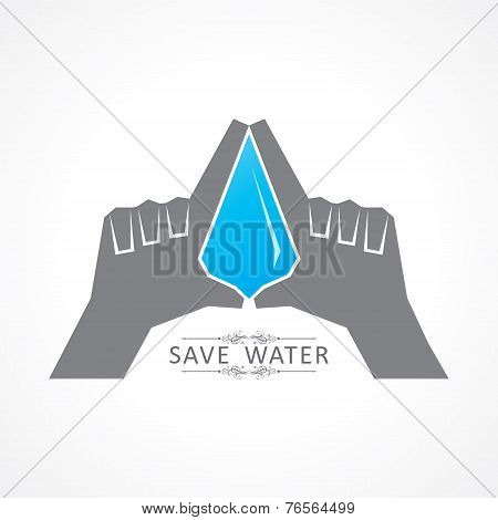 Save nature concept with water drop stock vector