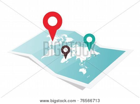 Map With Pin Pointer
