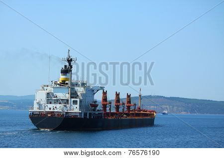 big container ship in Dardanelles strait