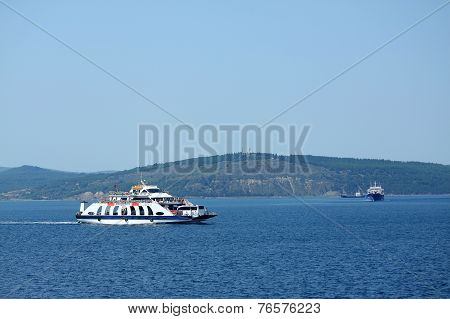 ferry in Dardanelles strait