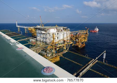 The Offshore Oil Rig In The Gulf Of Thailand
