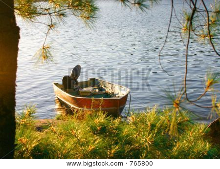 Fishing boat on shore