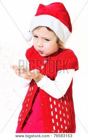 Blowing Little Santa