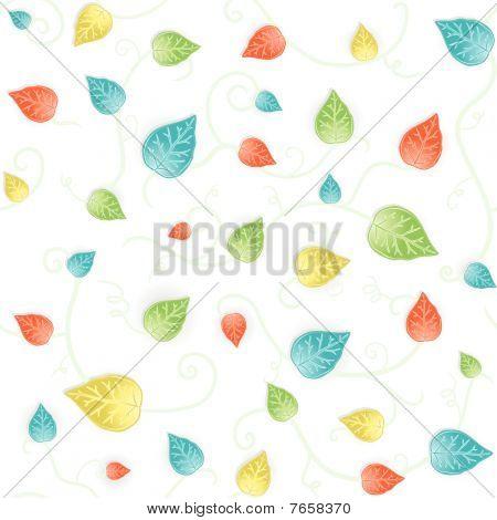 Autumn leafy seamless pattern