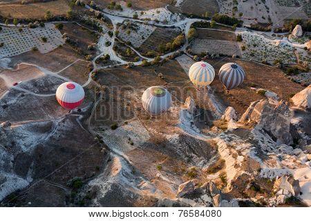 Cappadocia Turkey.The greatest tourist attraction of Cappadocia the flight with the balloo