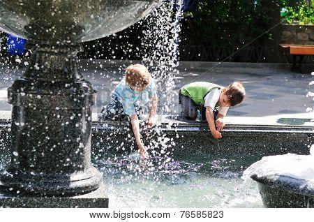 Waterworks Play Of Boys