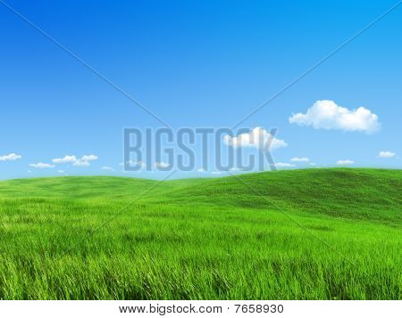 Nature Collection - Green Meadow Template