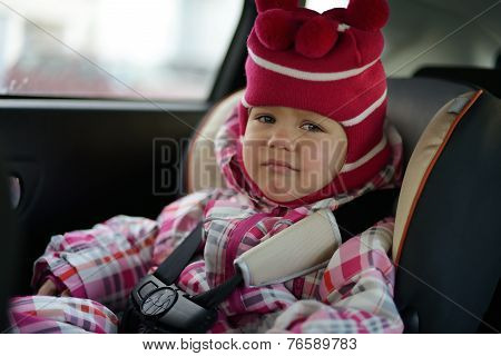Sad Baby In Car Seat
