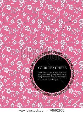 Japanese pink sakura background