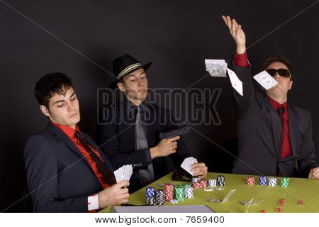 Gangsters playing poker