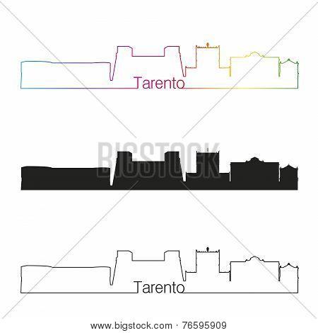 Tarento Skyline Linear Style With Rainbow