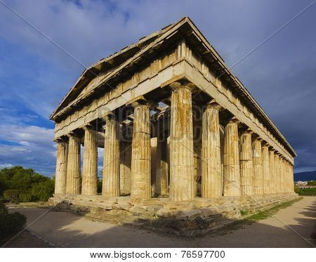 The Temple of Hephaistos in Athens, Greece