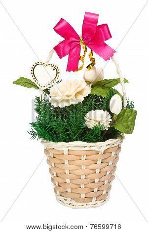 jasmine flowers in basket gift
