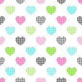 foto of color spot black white  - Colorful sColorful seamless pattern of bright halftone hearts on a white backgroundeamless pattern of bright halftone hearts on a white background - JPG