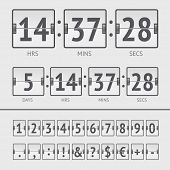 pic of countdown timer  - White countdown timer and scoreboard numbers - JPG