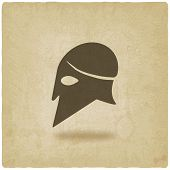 pic of sparta  - helmet icon old background  - JPG