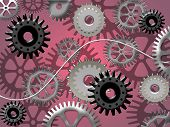 cogwheels abstract