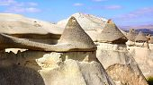 picture of chimney rock  - Picturesque landscape with Fairy chimneys Cappadocia in Turkey. ** Note: Visible grain at 100%, best at smaller sizes - JPG