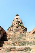 image of hindu-god  - Ancient rock curved temples of Hindu Gods and godess at Mandor garden Jodhpur Rajasthan India - JPG