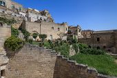 picture of sassy  - A view at houses in the Sassi the historic center of the city Matera in Basilicata in Italy - JPG