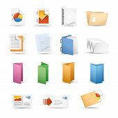 stock photo of collate  - Vector icon set for your website or presentation - JPG