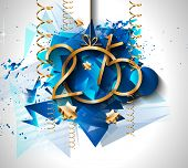 picture of christmas theme  - 2015 New Year and Happy Christmas background for your flyers - JPG