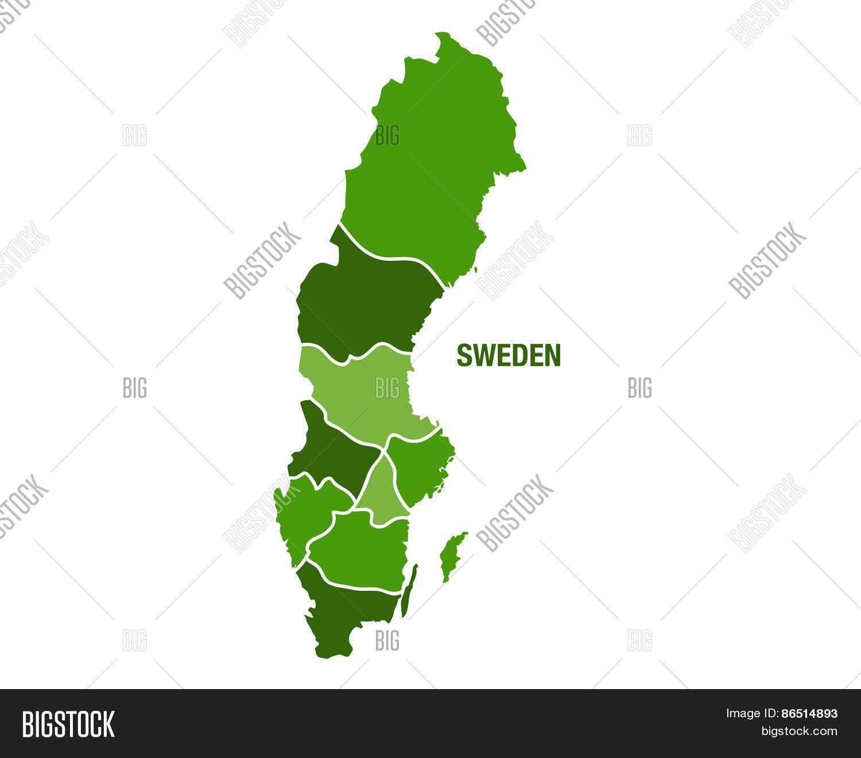 Sweden Map Regions Vector Photo Bigstock - Sweden map regions