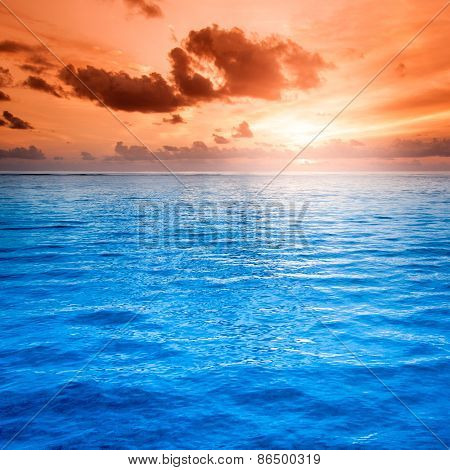 Folly Beach Ocean Sunset Landscape seascape scene