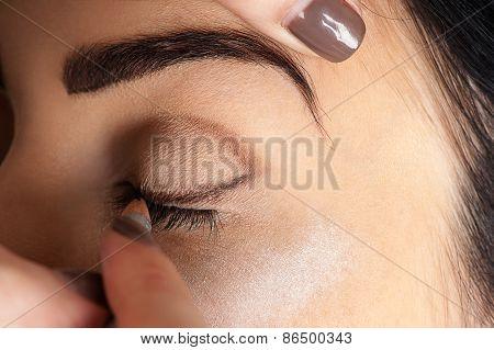 professional make-up of makeup artist