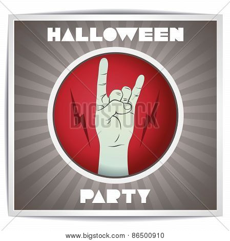 Halloween rock party poster