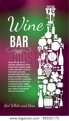 Wine menu background.