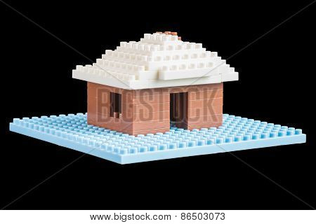 House Constructed Of Toy Building Blocks