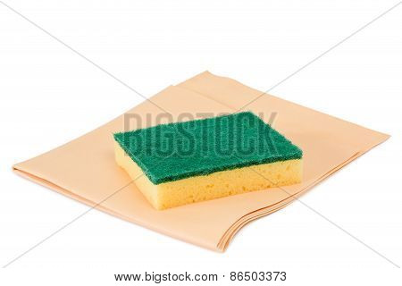 Scouring Sponge With Cloth