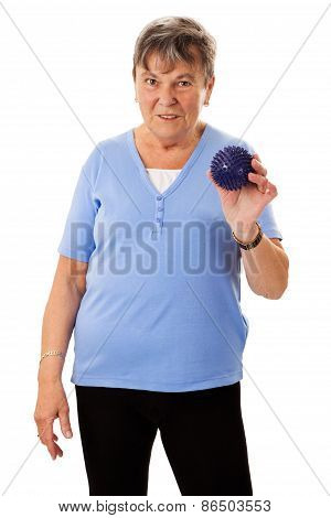 Senior Woman With Massage Ball
