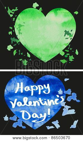 Happy Valentine's Watercolor Heart