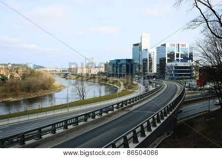 Vilnius City Transport In The Gelezinis Vilkas Street