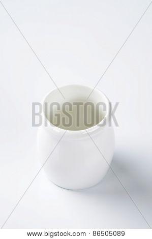empty white vase on white background