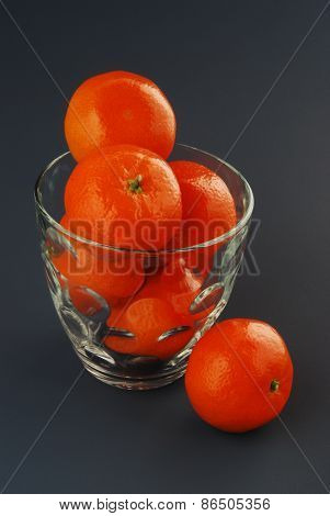 Juicy Clementines in a Glass