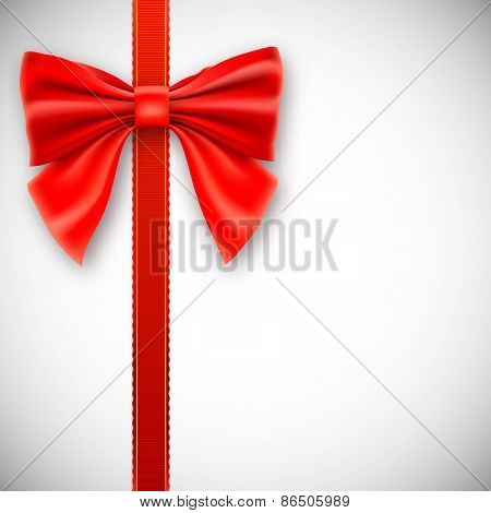 Red ribbon with bow.