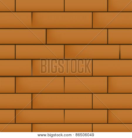 Wall with masonry.