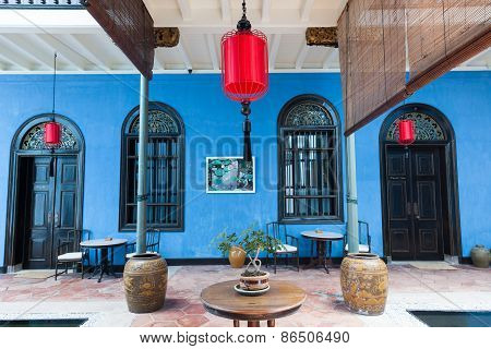 The interior of Fatt Tze Mansion or Blue Mansion, Penang