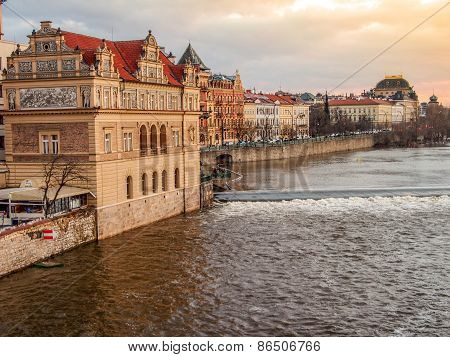 Prague view on the river