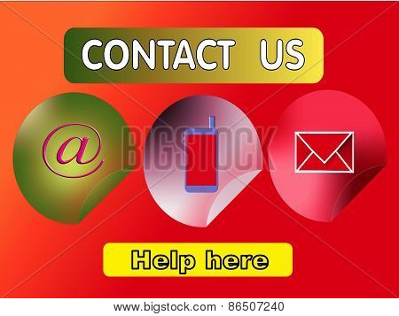 contact us, three buttons