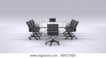 Business conference table with chairs