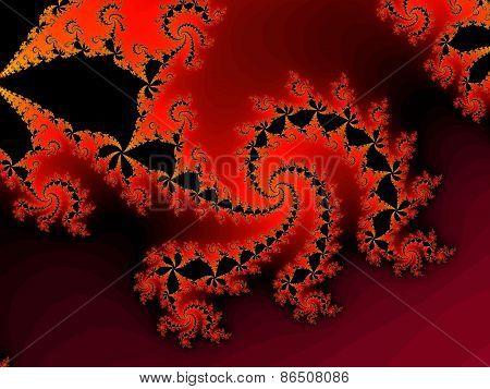 Decoirative fractal background