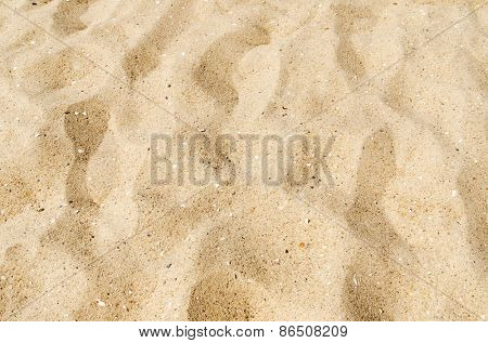 yellow sand on beach as background