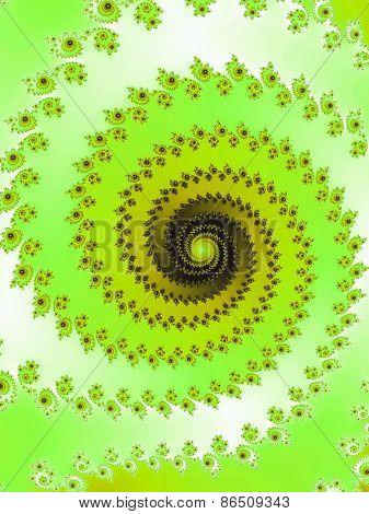 Graceful fractal spiral