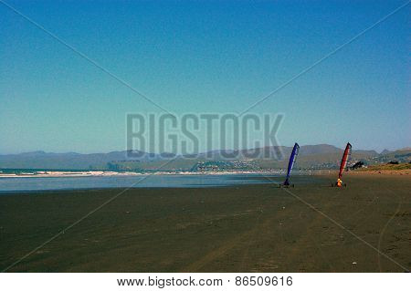 Sail Buggy At Beach
