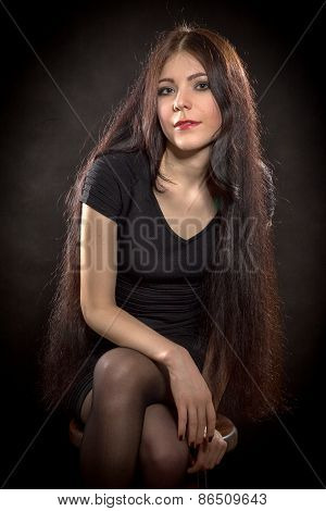 Woman With Long Hair