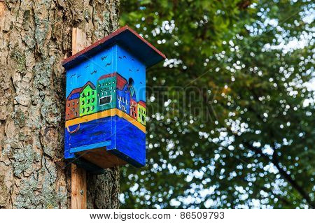Colorful Birdhouse Canal Houses View Side